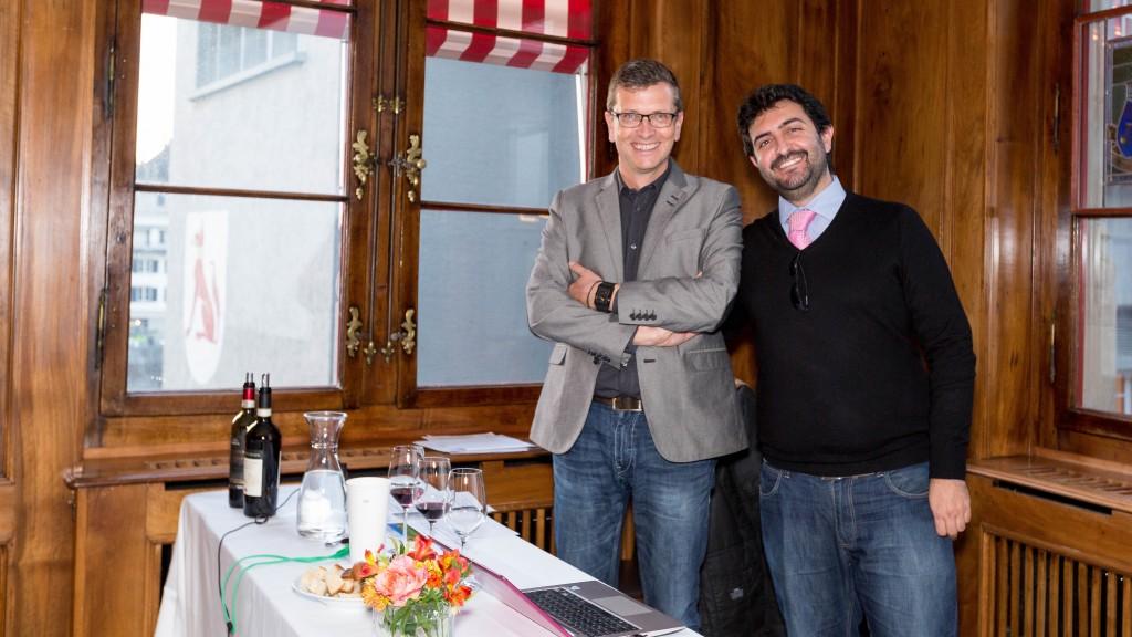 Christian Eder e Giuseppe Longo di Assovini a Zurigo 2015