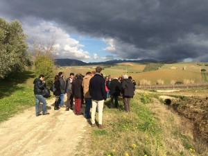 I partecipanti in visita alla tenuta Sallier de la Tour