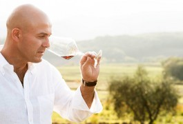 The winemaker Emiliano Falsini