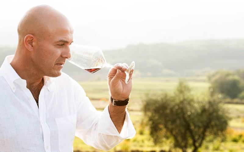 The winemaker Emiliano Falsini