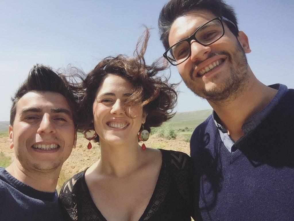 L'enologo Giuseppe Bennardo, Giulia Monteleone e Michele Caruso