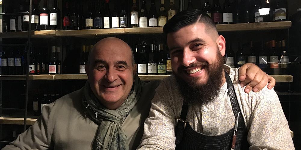 Franco Virga (sinistra) insieme al bartender di Bocum, Gianluca Di Giorgio