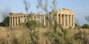 Il tempio C di Selinunte. La cantina Settesoli sostiene il Parco Archeologico con una raccolta fondi