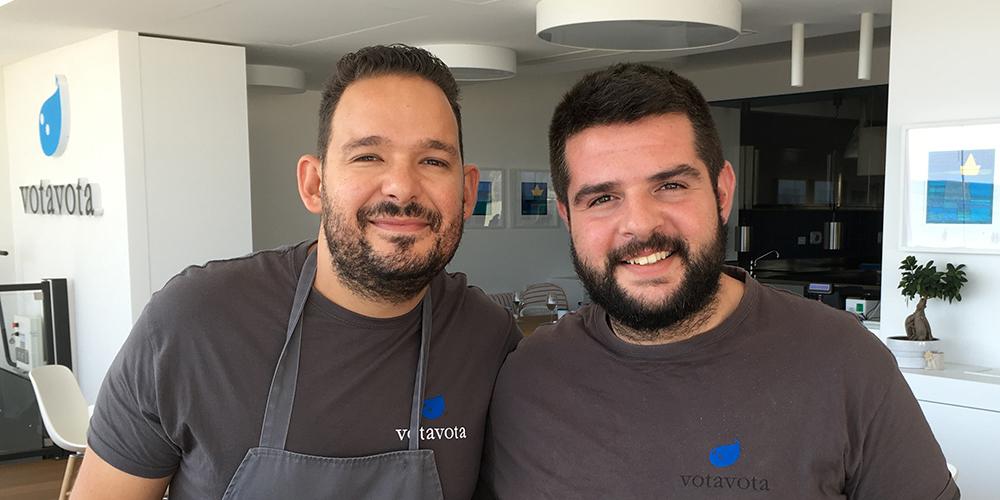 Peppe Causarano e Antonio Colombo del ristorante Vota Vota di Marina di Ragusa