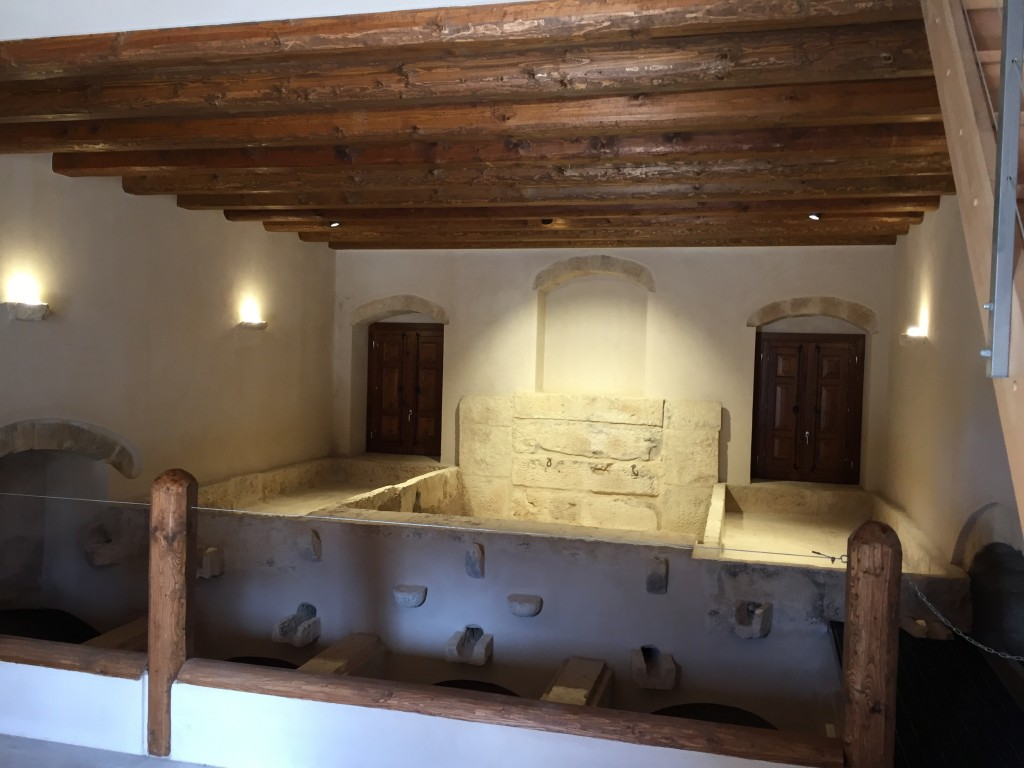 vasca di pigiatura a Villa Maggio