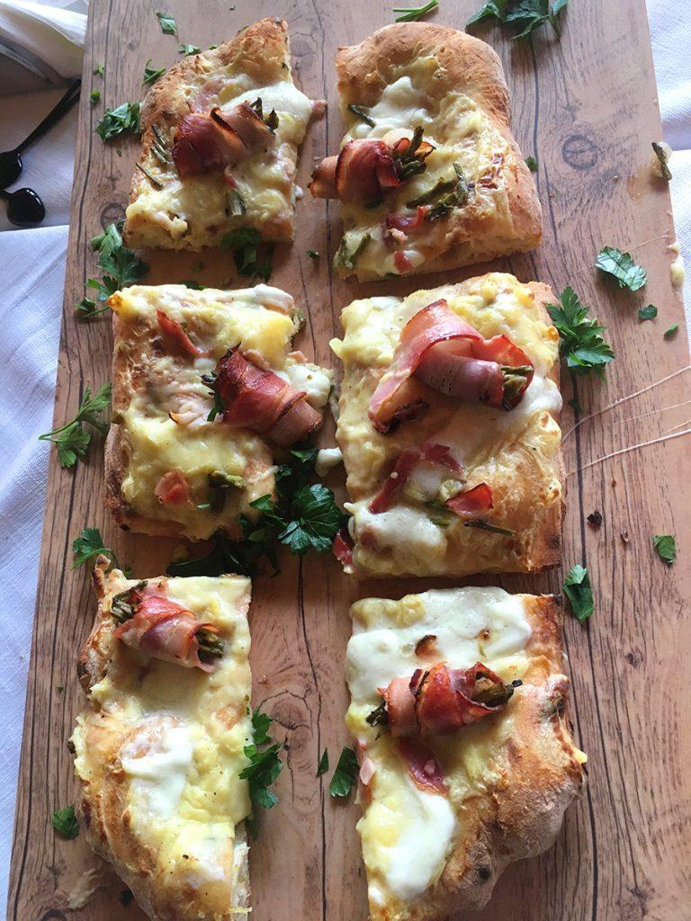una pizza in pala da Blu Cammarata