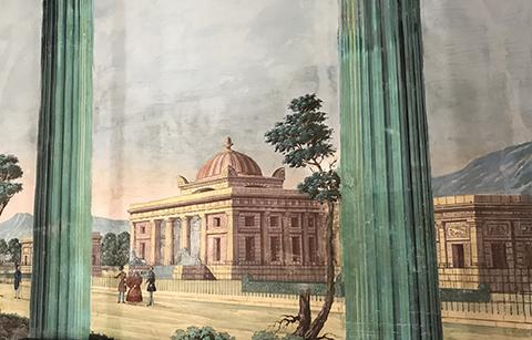 Pittura murale del complesso monumentale presso il Castello di Donnafugata (Foto A. Gulì)